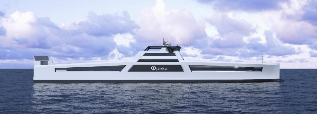 I skipene er det batterier på 1000 kWh og 3 MW brenselceller drevet av hydrogen.