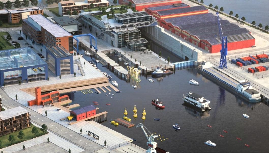 Kanskje vil uttesting av ny maritim og bærekraftig teknologi i Nyhavna-bassenget bli et vanlig syn i framtidens bybilde i Trondheim?