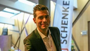 Schenkers «fly-sjef» (Head of Air Freight), Morten Würgler, forteller at SAS Cargo-bygget som base bidrar til en betydelig styrking av selskapets totale fly-produkt. Foto: Per Dagfinn Wolden