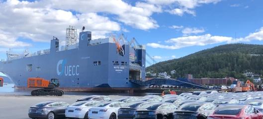 El-bil rekord i Drammen Havn