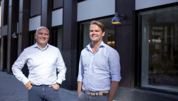 Kolbjørn Giskeødegård (t.v.) og Anders Hagen, henholdsvis finansdirektør og adm. direktør i Columbi Salmon.