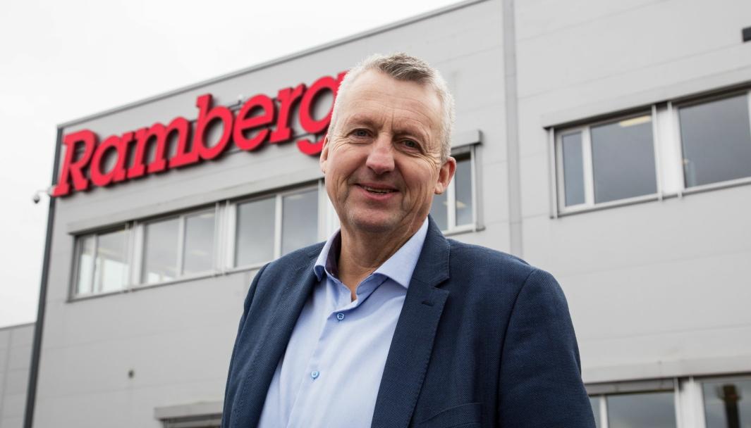 Administrerende direktør i B.H. Ramberg, Terje Claussen, gleder seg over å ha sikret seg nye muskler i kampen om netthandelskundene.