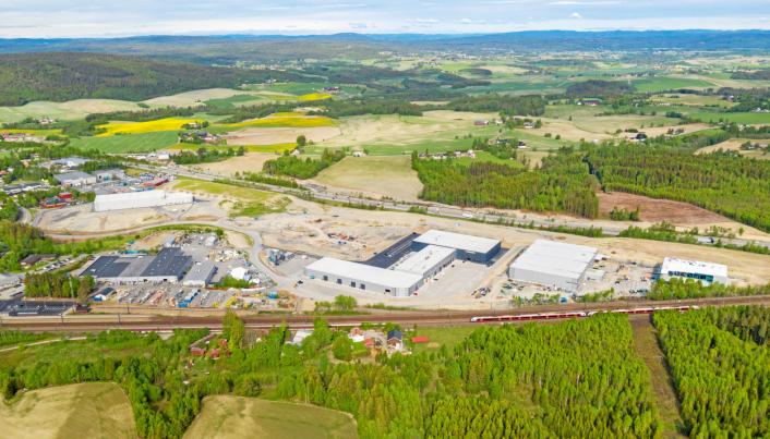 På Lindeberg har Bulk Infrastructures bygget ut et større logistikkområde, i nær tilknytning til Lindeberg togstasjon.