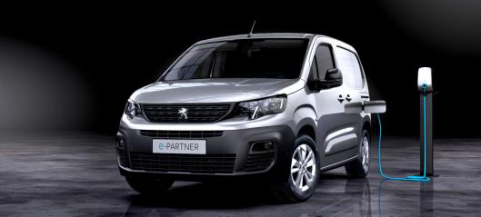 Peugeot e-Partner med 275 km rekkevidde
