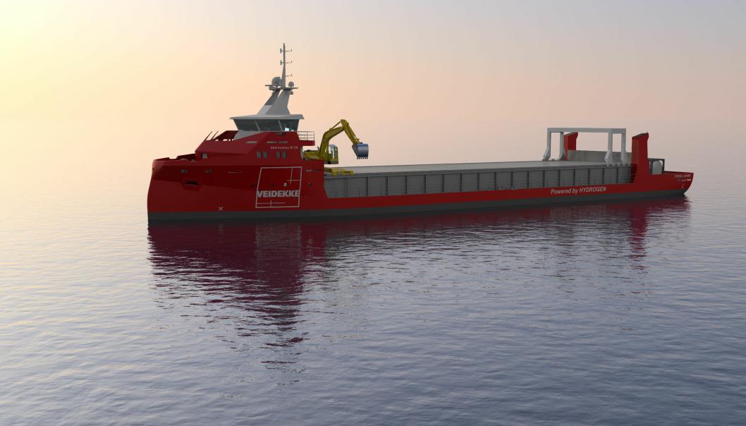 Pernille Mølbak er prosjektleder for Veidekkes satsning på to nye hydrogen lasteskip langs norskekysten.