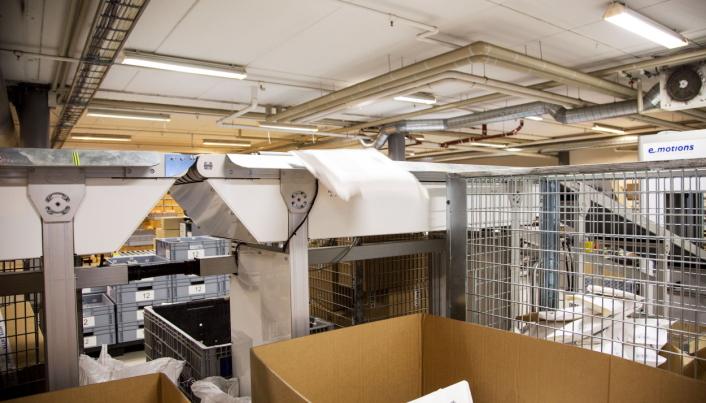 MER AUTOMATISJON: 360 Logistics har automatisert sortering og pakking. I de nye lokalene blir det også automatisering av plukk.