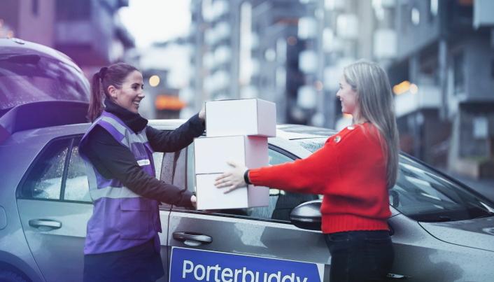 SAMKJØRER: Med Porterbuddy er det mulig å få pakker fra flere ulike nettbutikker i én leveranse.