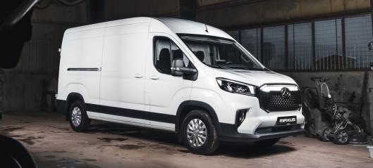 Ny elektrisk varebil med 11 m³ lasteplass