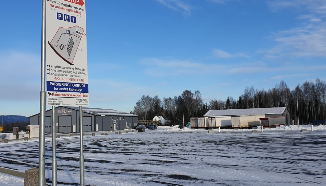 Døgnhvileplassen på Roverud nord for Kongsvinger er klar for å ta imot tungbilsjåførene. Plassen åpnet 1. februar.