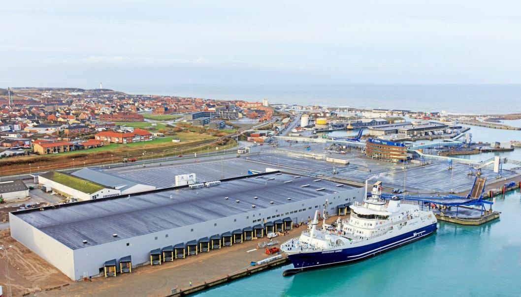 Hav Line har investert nærmere en milliard kroner i skipet Norwegian Gannet mottaksanlegg i Hirtshals.