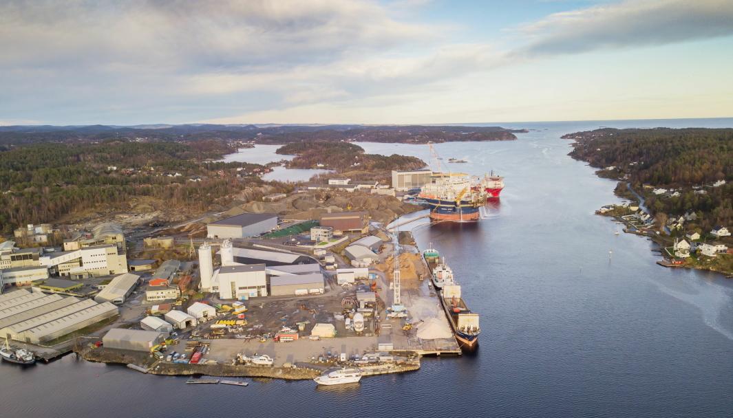 Arendal Havn kan få betydelig økte volumer som følge av etablering av batterifabrikk og nytt næringsområde.