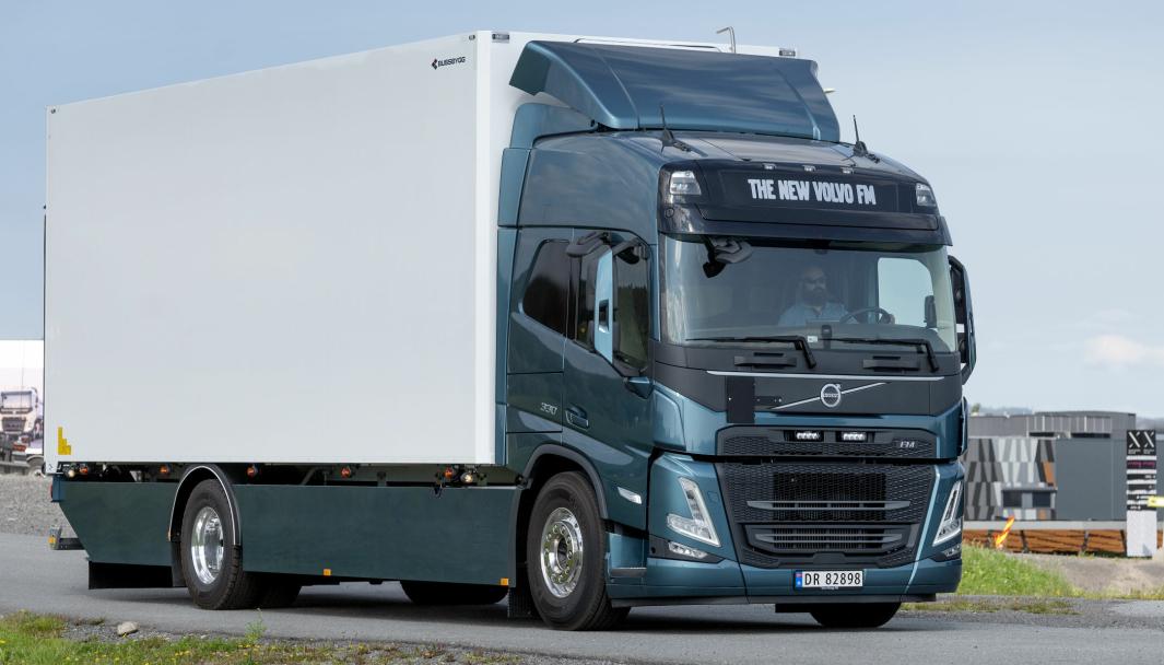 FORSMAK: Volvo Norge var på turne over hele Norge med den nye lastebilserie i fjor. Nå starter produksjonen.