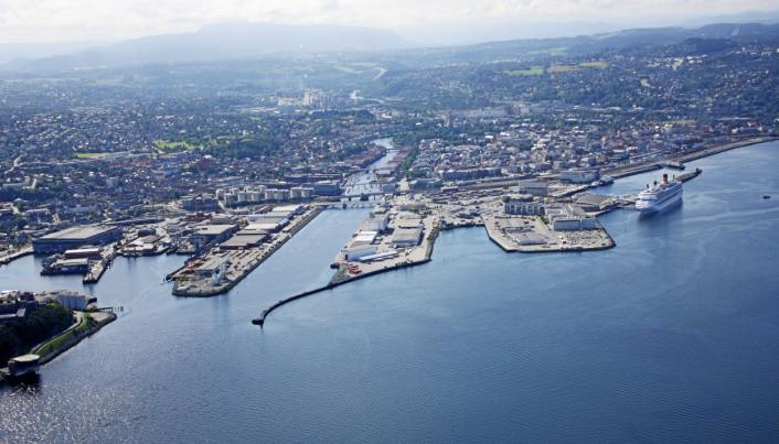 Trondheim Havn har opplevd en nedgang total i 2020, men en oppgang i containervolumer.