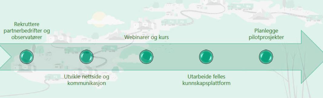 Slik ser fremdriftsplanen for Grønt landtransportprogram ut.