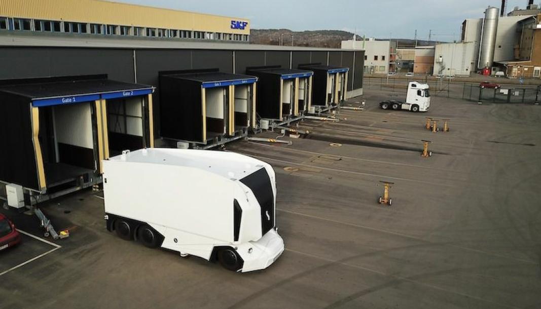 Einrides autonome lastebiler skal etter planen kjøre på offentlig vei mellom SKFs fabrikker i Göteborg.