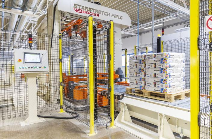 I FULL DRIFT: Mørtelproduksjonen går får fullt i den nyutvidede fabrikken fra 2019.