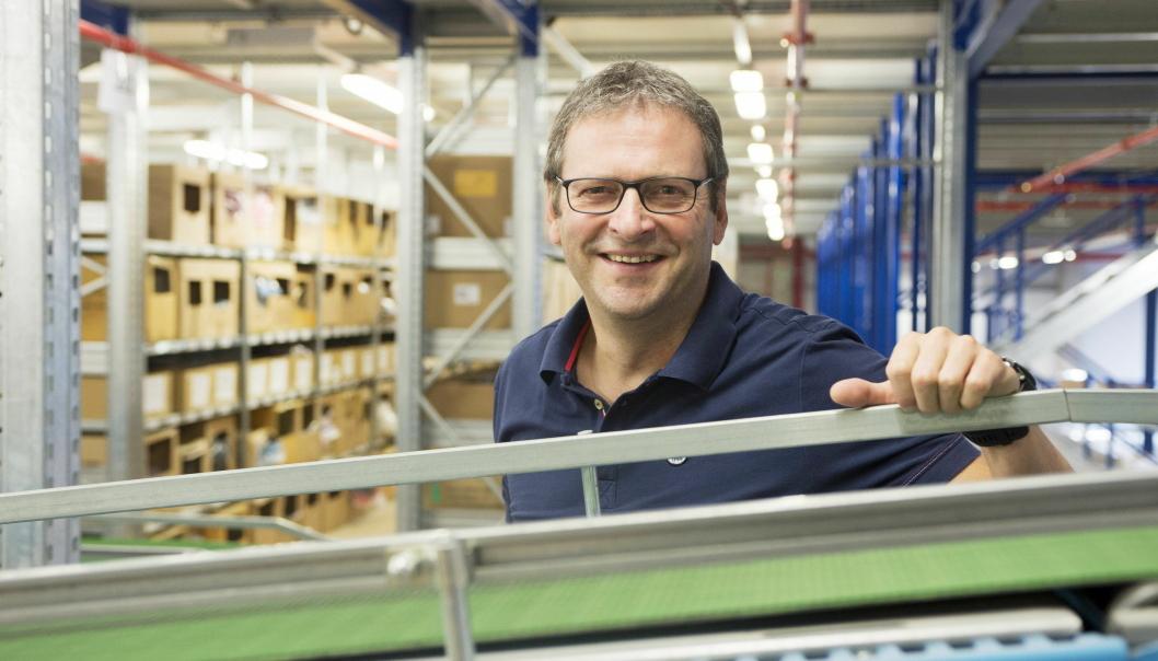 OVERSIKT: - Vi har full transparens i hele forsyningskjeden, sier Bernd Wolf, administrerende direktør i Odlo Logistik GmbH.