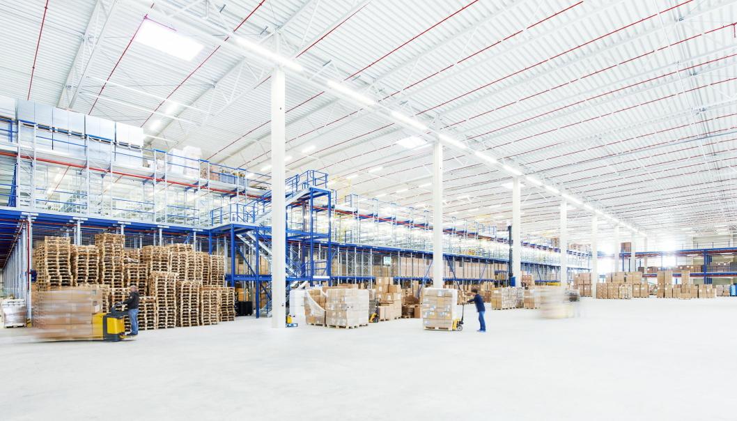 HJERTET: Fra Odlos lager i Brüggen forsynes hele det europeiske markedet.