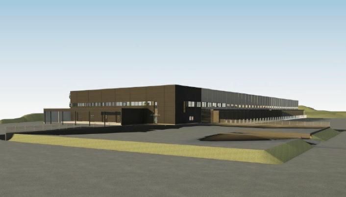 PLANEN: Slik ser skissene for den nye terminalen i Os ut.
