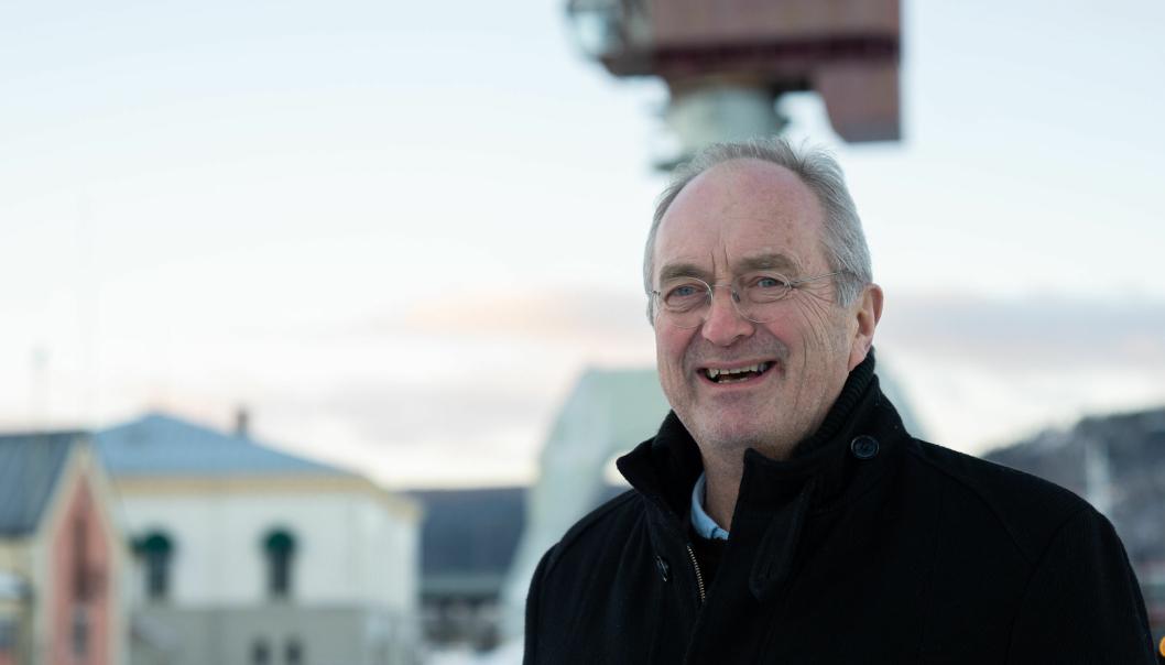 Havnedirektør Einar Olsen er fornøyd med utviklingen i bilimporten over Drammen, men skulle gjerne hatt litt mer alburom.