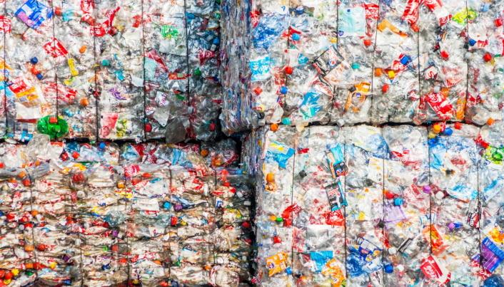 KAN BLI DYRT: EU har innført plastskatt på plastavfall som ikke gjenvinnes.