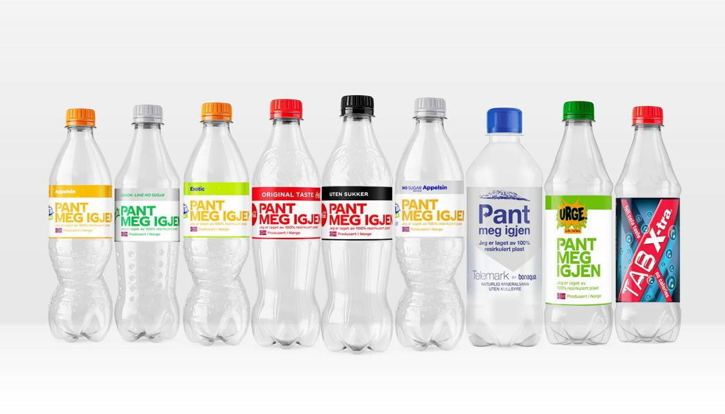BEVISSTGJØR Coca-cola har tatt grep og bruker flasker i resirkulert plast, og sender samtidig et budskap på flaskene.