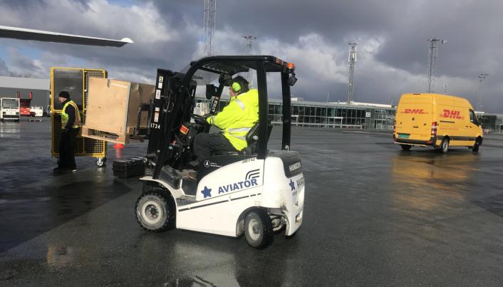 FLESLAND: Aviator Airport Alliance er fornøyd med Hangcha-truckene de har hatt, og har nylig fått levert flere.