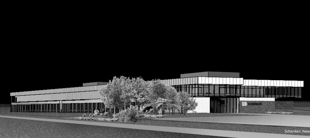 Slik skal den nye Schenker-terminalen i Bergen se ut.