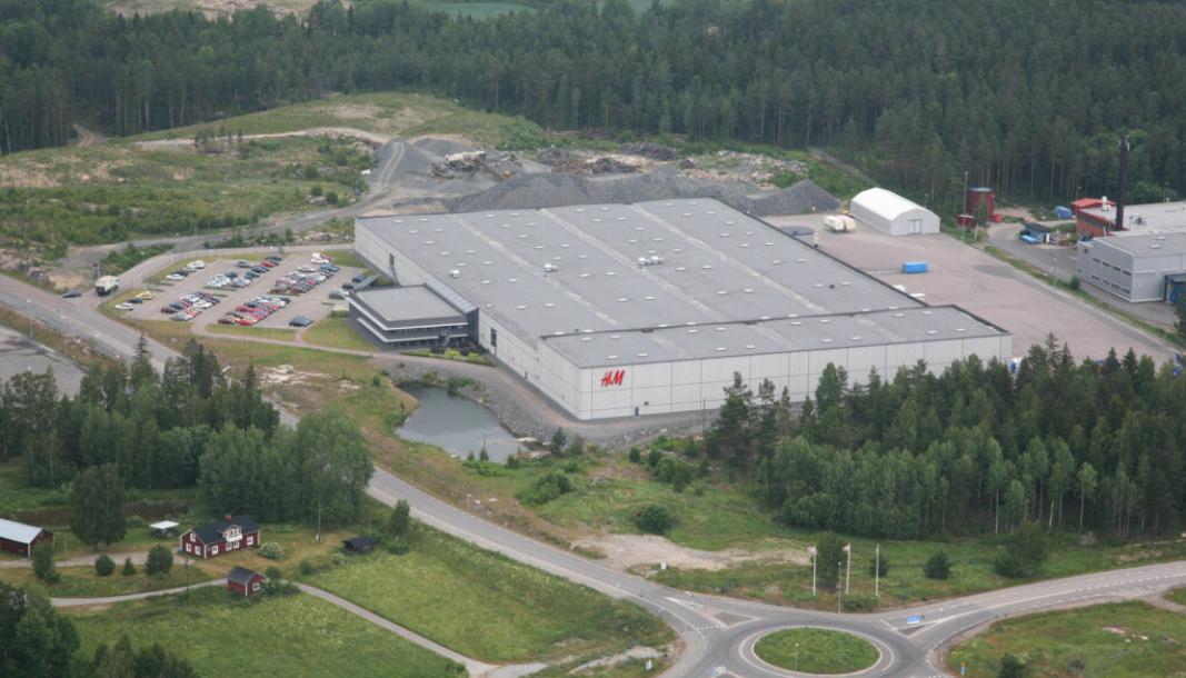 Slik ser H&M-lageret ut i dag, men det skal utvides kraftig for å bli nordisk sentrallager.