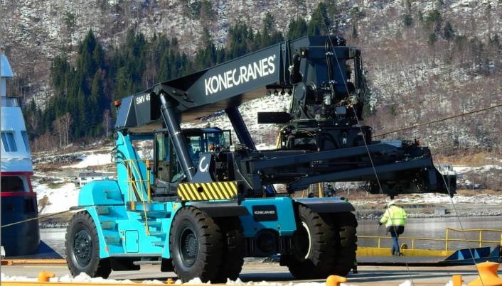 Konekranes har levert to reachstackere til Onrail - en til Alnabru og en til Åndalsnes.