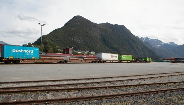 Det har vært stille på godsterminalen i Åndalsnes siden Green Cargo la ned sin rute. Her fra 2017 mens det fortsatt var aktivitet.