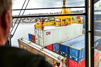 Utrolige 70 prosent containervekst