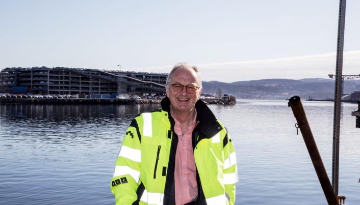 UTBYGGER: Havnedirektør Einar Olsen har jobbet i Drammen Havn i nesten 25 år, og hele tiden kjempet for utvidelser.