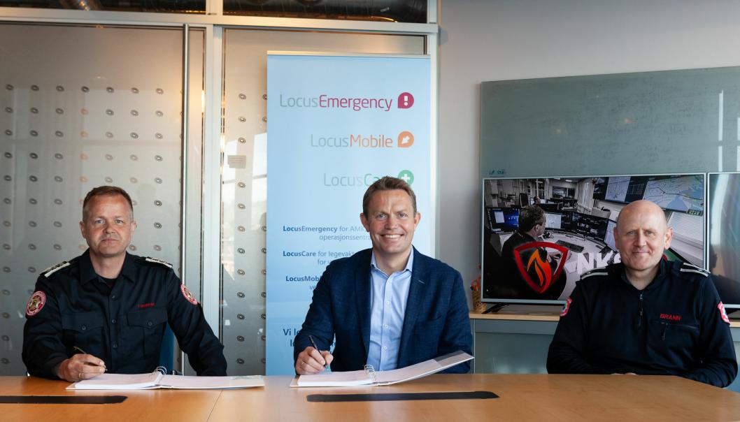 Fra venstre: Terje Suldal NKS110, Per Edvard Heyerdahl Locus Solutions og Rune Vårdal Paulsen NKS 110. Foto: Tommy Rasmussen