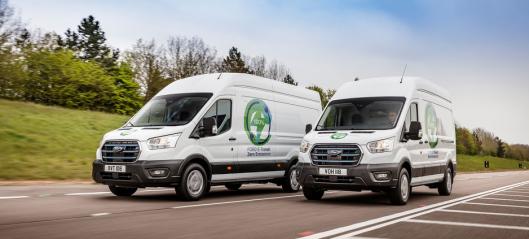 Nye Ford E-Transit skal testes av norske kunder