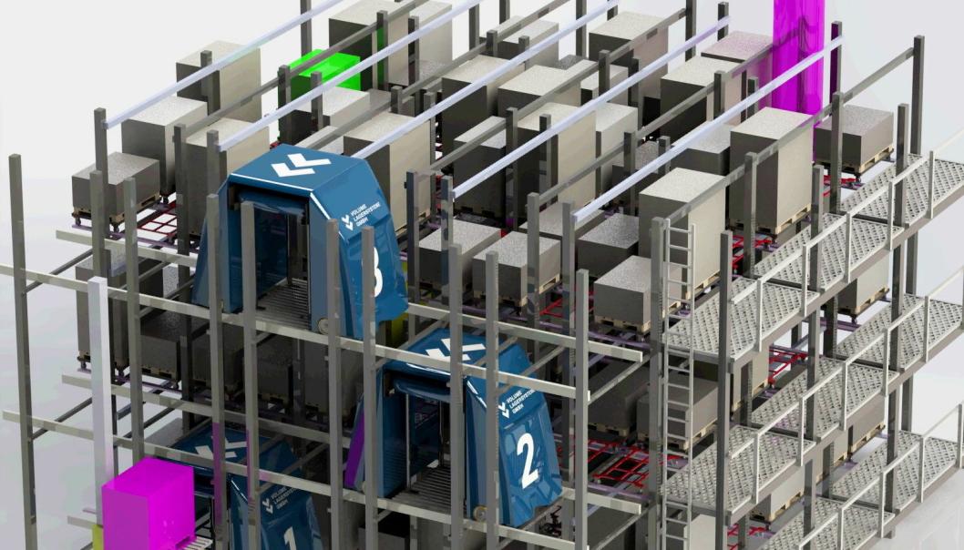 NYE TANKER: Volume Wave fra Volume Lagersysteme kombinerer kompakt lagring med lett tilgjengelighet.