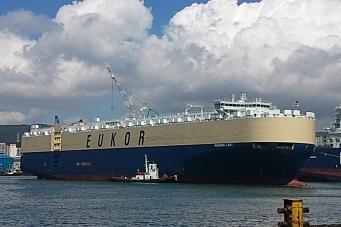 Lager sakte-TV av gigantskip til Drammen