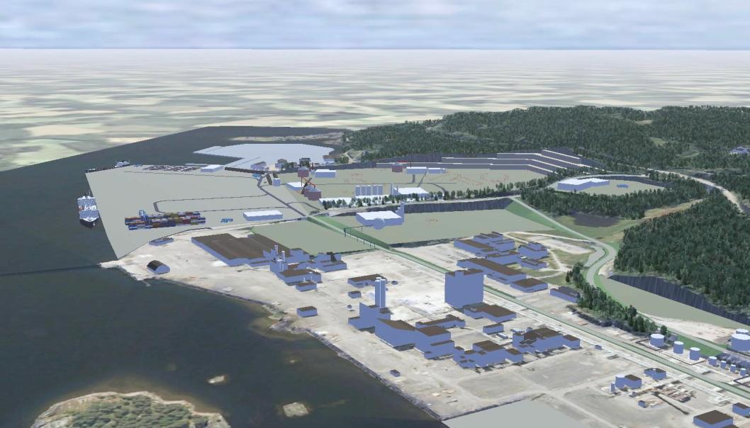 Det planlegges storstilt utbygging på vestsiden av Frierfjorden i Grenland.