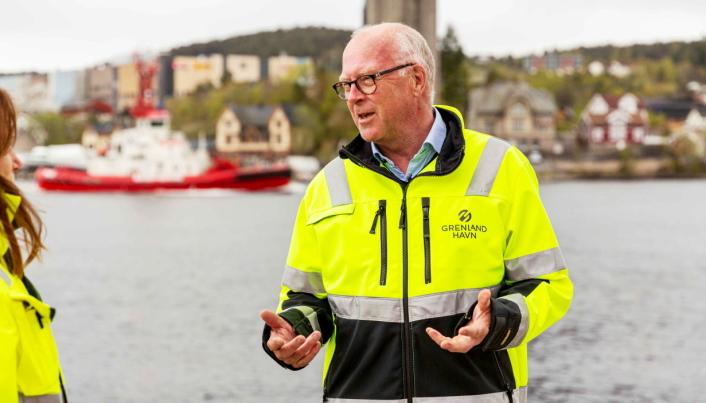 STORE PLANER: Havnedirektør Finn Flogstad i Grenland havn ser store muligheter i utbyggingen av Frier Vest.
