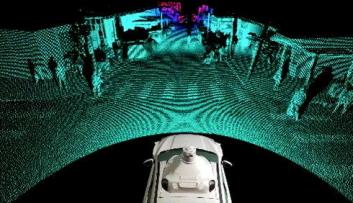 SKANNER: Argos Lidar ser bedre i mørket og klarer å skille ut mørke objekter. Et samspill mellom kamera, Lidar og radar må til for å skape et så komplett bilde av trafikksituasjonene som mulig.