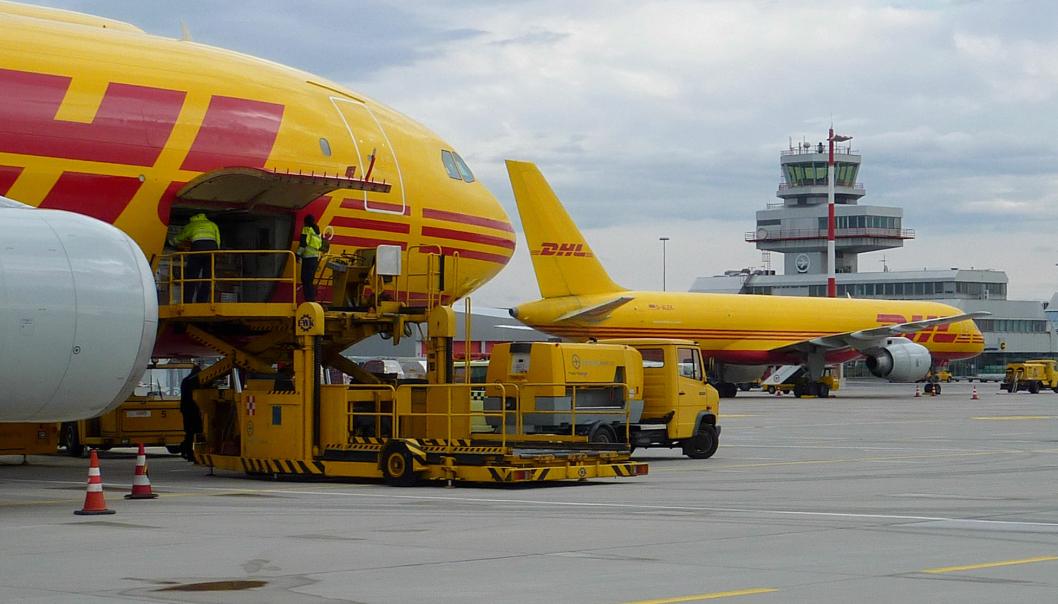 DHL-fly ved flyplassen i Linz i Østerrike, der det nye selskapet vil være basert.