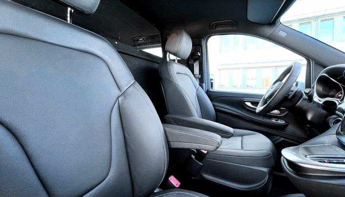 Komfort-skilleveggen skal gi økt komfort for sjåfør og passasjer.