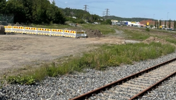 Kjemper for midlertidig jernbaneterminal