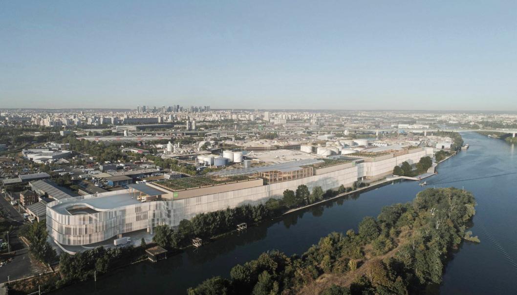 Den lange bygningen skal oppføres ved Seinens bredd, og være nært knyttet alle transportformer, og ikke minst svært nær sentrum av Paris.