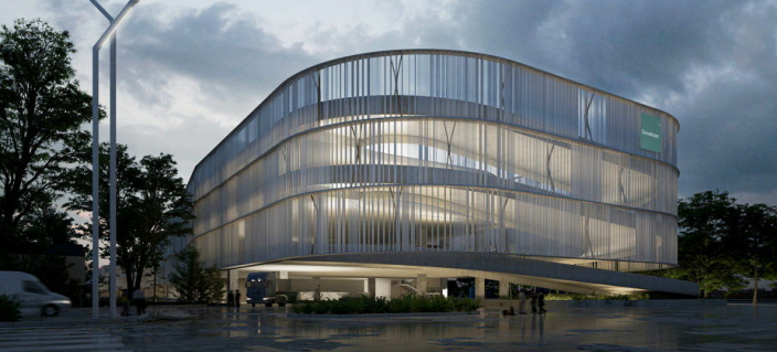 Green Dock bygges i fire etasjer, med mulighet for alle typer kjøretøy i alle etasjene