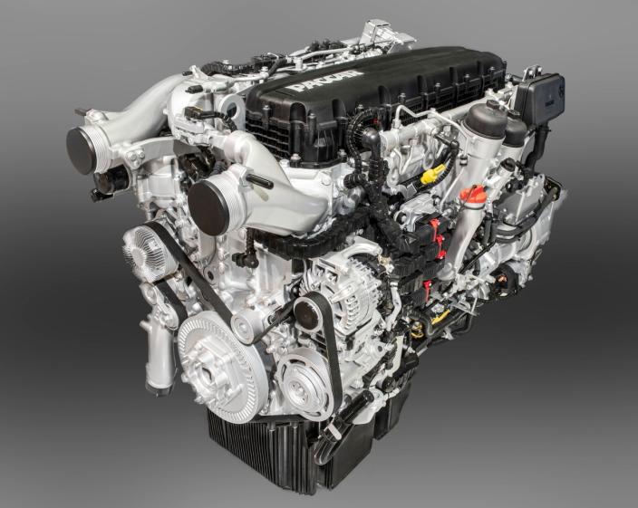 FORBEDRET: Motorene har fått en kraftig overhaling med bedret forbrenning ved at den har nye dyser, ny topp og en ny blokk samt ny stempeldesign. Her MX-13 motoren som har maksimalt 530 hk.