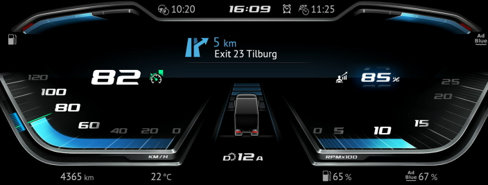 INSTRUMENT: Det nye instrumentpanelet tillater individuell tilpasning etter førerens ønsker.