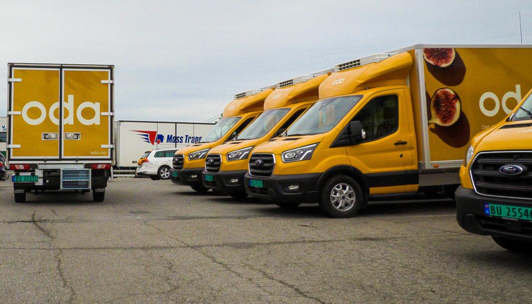 Oda har investert i 49 Ford Transit 2T-varebiler.