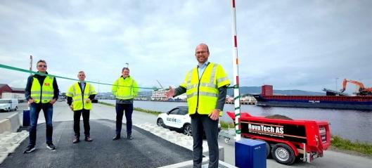 Grønn bulkterminal skal redusere massetransport på vei i Trondheim-regionen