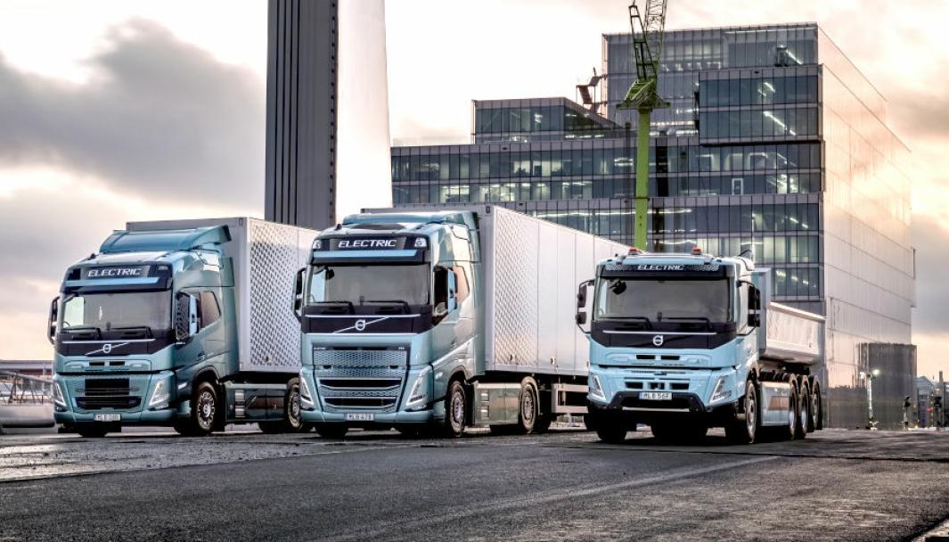 Tre nye helelektriske lastebiler – FH, FM og FMX - for det europeiske markedet, i tillegg til elektriske FE og FL.